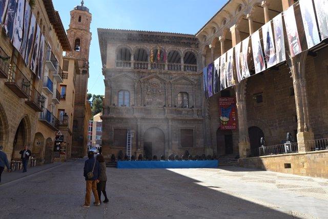 Plaza de España de Alcañiz (Teruel)