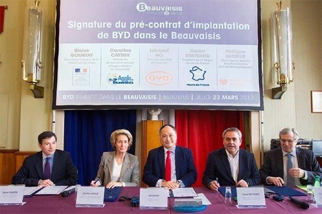 BYD construirá una nueva planta en Francia