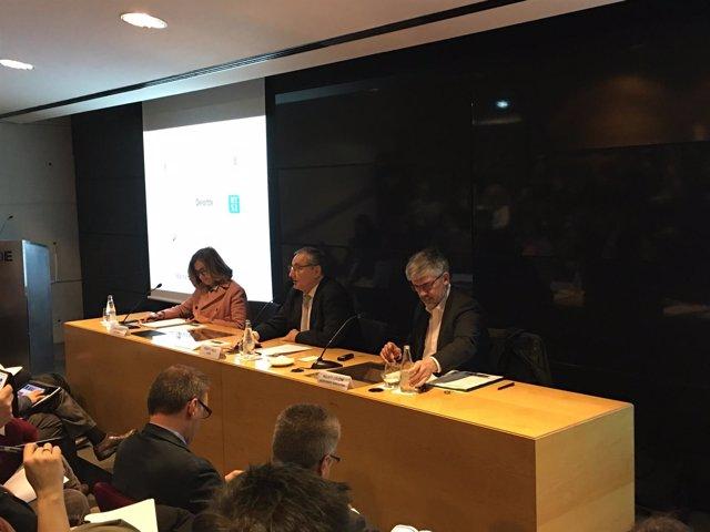Elena Foguet, Josep F. Valls y Agustí Colom