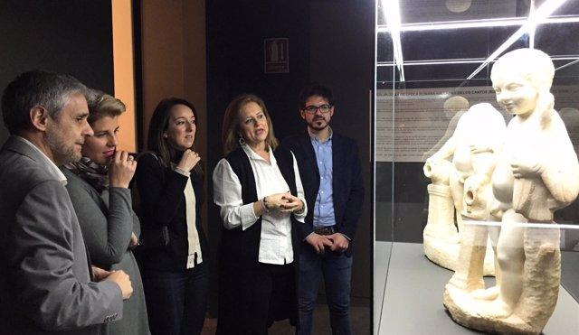 Piezas que se exponen en el Museo Arqueológico de Murcia de forma temporal