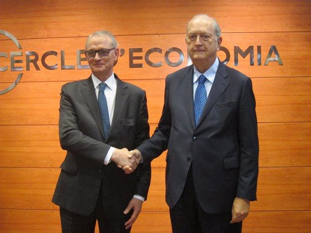 Antón Costas y Juan José Brugera (pte del Círculo de Economía)