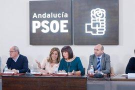 Apoyo unánime de la plana mayor del PSOE-A a Susana Díaz en su decisión de optar a primarias