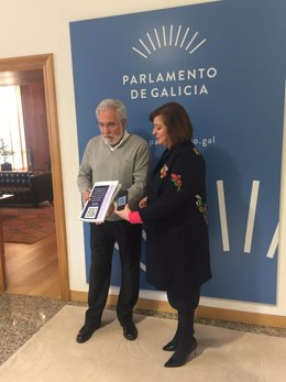 Miguel Santalices y Susana López Abella