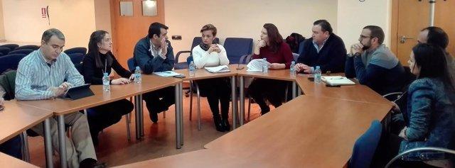 Crespo, durante su reunión con representantes de organizaciones agrarias