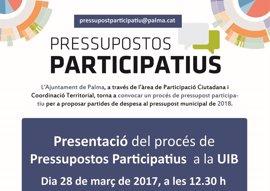 La concejala de Participación Ciudadana explicará este martes los presupuestos participativos en la UIB