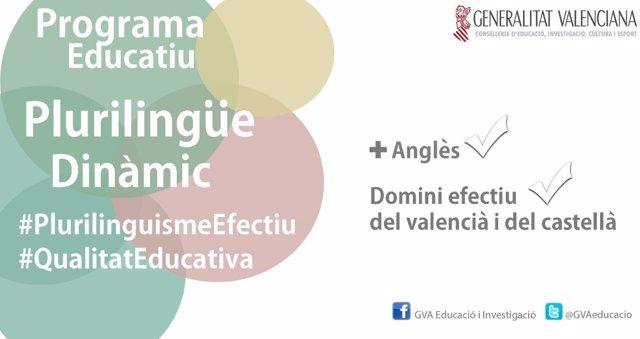 Imagen promocional del programa plurilingïue de la Comunitat Valenciana