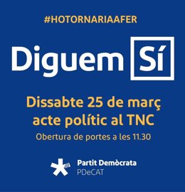 Campaña del PDeCAT en defensa del referéndum y del 9N
