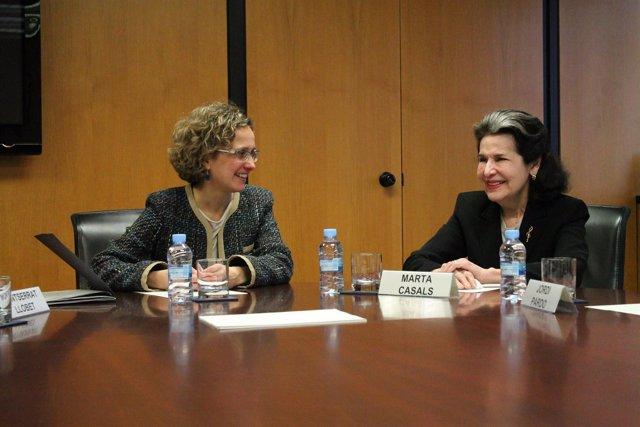 La consellera Meritxell Ruiz y Marta Casals