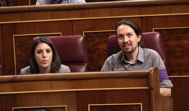 Irene Montero y Pablo Iglesias, de Podemos
