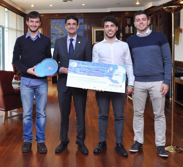 Los tres estudiantes representarán a España en la final