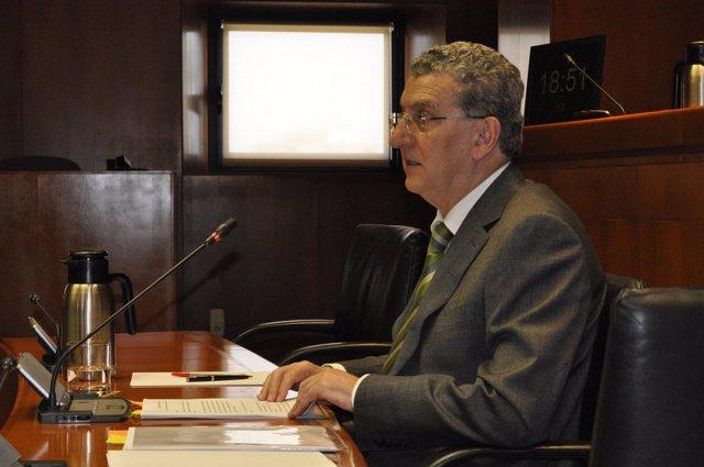 El consejero de Sanidad, Sebastián Celaya, en las Cortes de Aragón