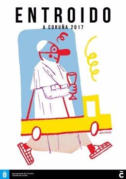 Cartel de carnaval del Concello da Coruña