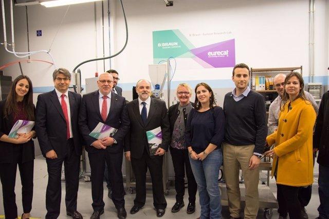 El conseller Jordi Baiget, en la inauguración de un nuevo laboratorio Eurecat