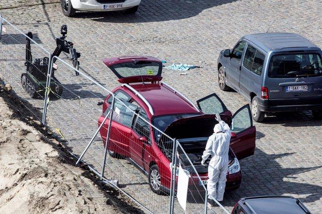 Vehículo sospechoso interceptado en Amberes
