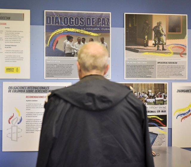 Exposición 'Colombia, la paz esquiva'