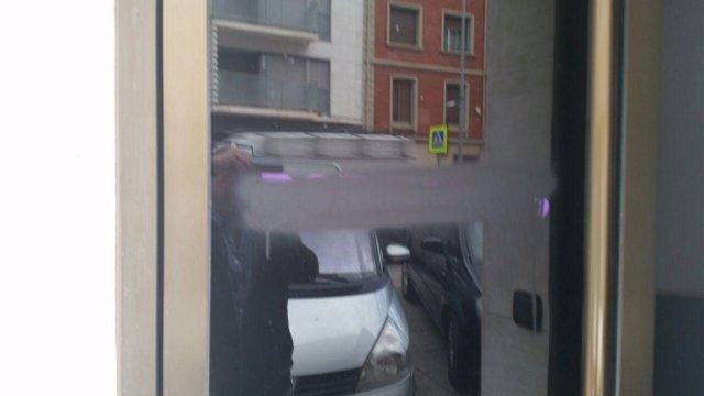 Ataque sufrido en la sede de 'Podemos' de Arnedo