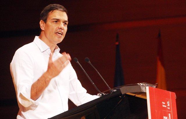 Pedro Sánchez, en el acto en Cádiz el pasado fin de semana