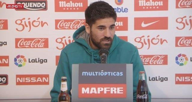 Carlos Carmona, jugador del Sporting de Gijón