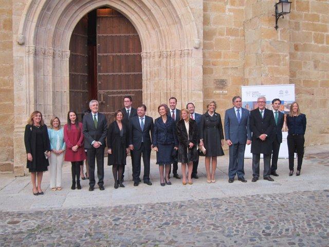 La reina Sofía ha inaugurado en Cáceres el IV Ciclo de Música de Ciudades Patrim