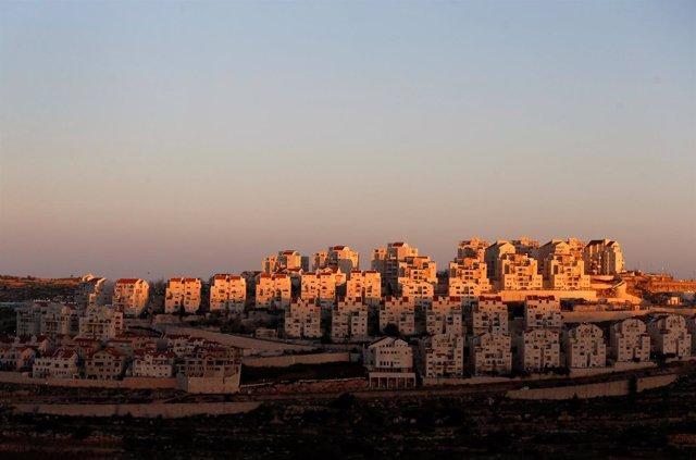 Vista general del asentamiento de Efrat, en Cisjordania
