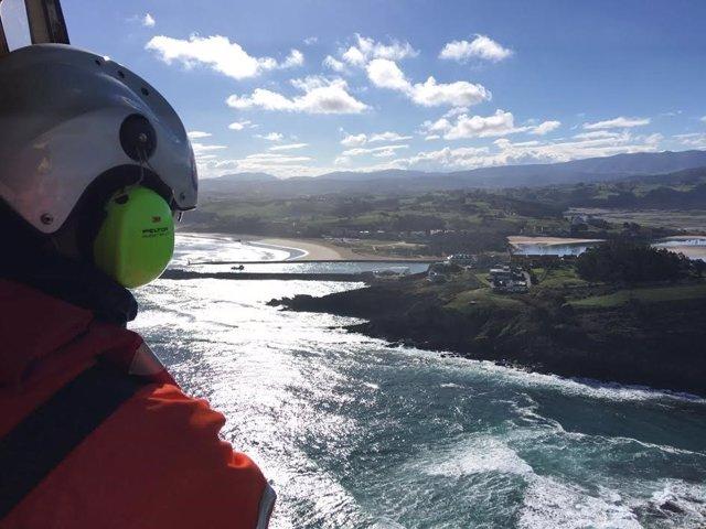 Búsqueda hombre que cayó al mar en San Vicente de la Barquera