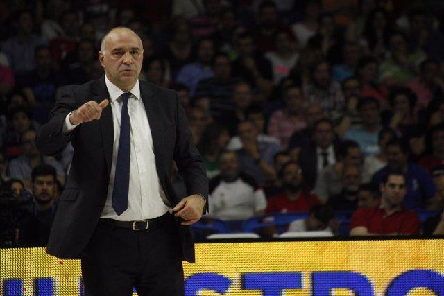 Pablo Laso entrenador del Real Madrid