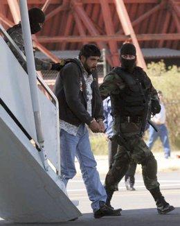 Alfredo Beltran Leyva durante su detención