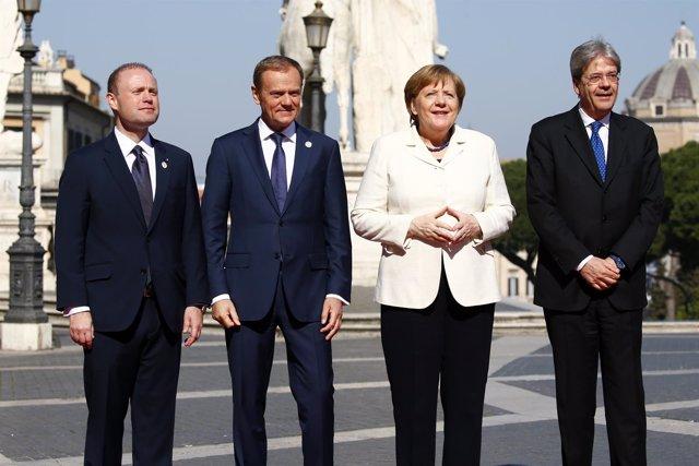 Angela Merkel en Cumbre Aniversario Tratado Roma
