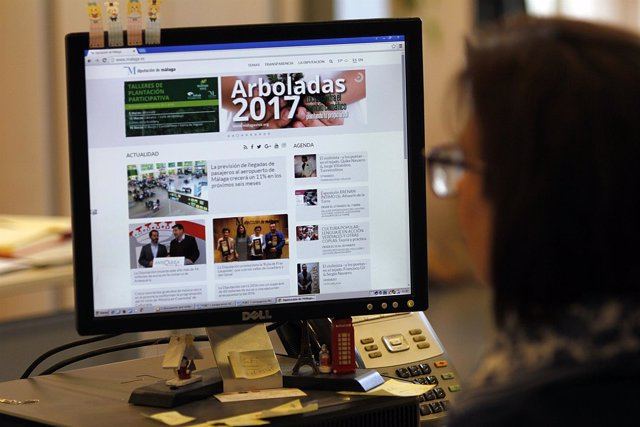 Portal web de la Diputación de Málaga visitas visitantes página tecnología