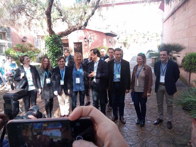 Dirigentes del PP balear y Fernando Martínez-Maillo
