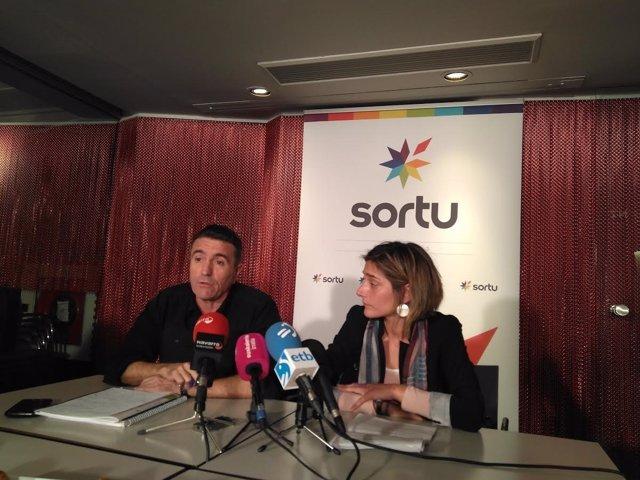 Bittor Rubio y Miren Zabaleta, de Sortu