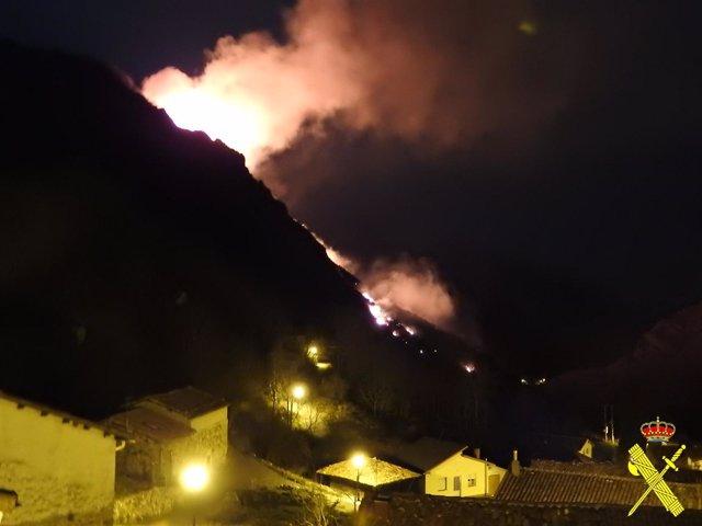 Incendio en Somiedo.