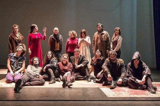 Alumnos de la Escuela Municipal de Teatro