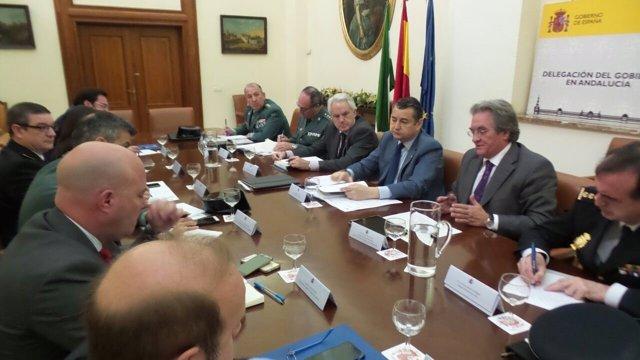 Reunión para preparativos de la Operación paso del  Estrecho.