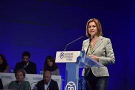 """Cospedal define a Monago como el """"mejor presidente"""" de Extremadura, frente a la actitud """"contemplativa"""" del actual"""