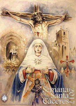 Cartel Oficial de la Semana Santa Cáceres 2017