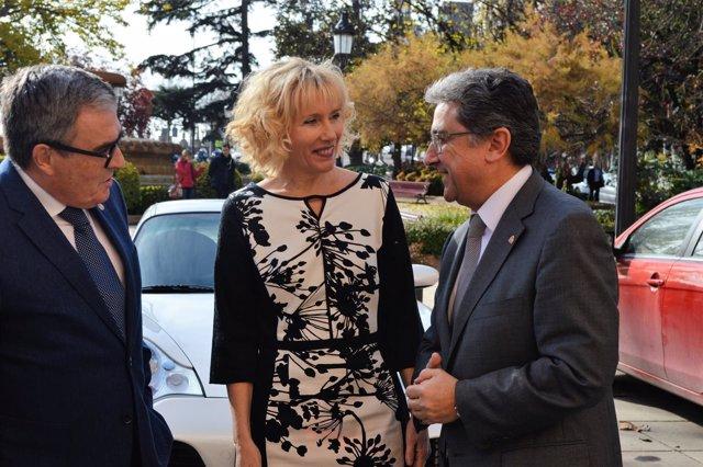 Àngel Ros, Inma Manso y Enric Millo