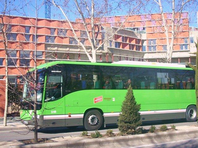 Autobús interurbano en Getafe