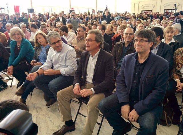 Irene Rigau, Joana Ortega, Francesc Homs, Artur Mas y Carles Puigdemont