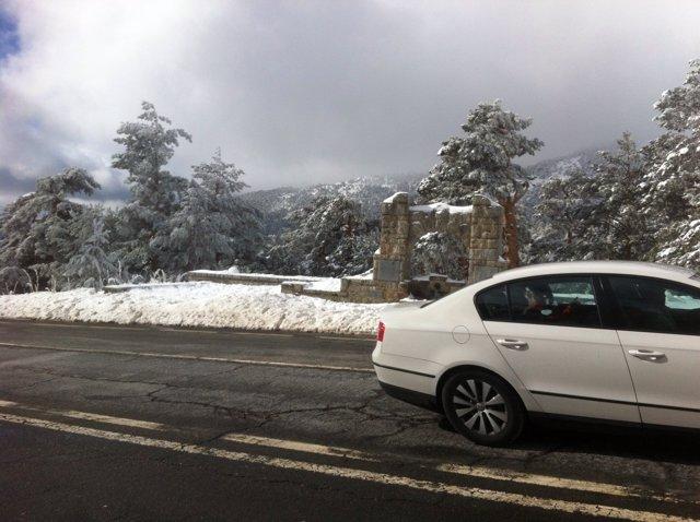 Nieve en la sierra de Madrid