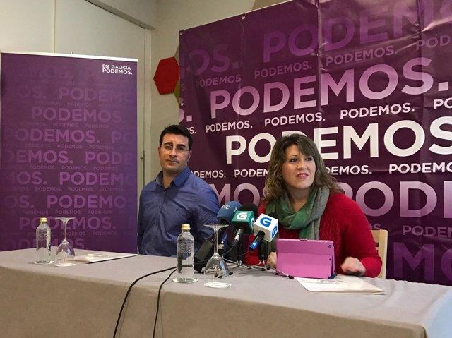 Carmen Santos y Juan Merlo, en rueda de prensa