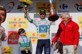Valverde se asegura el maillot blanco tras llegar segundo en el sprint de la sexta etapa