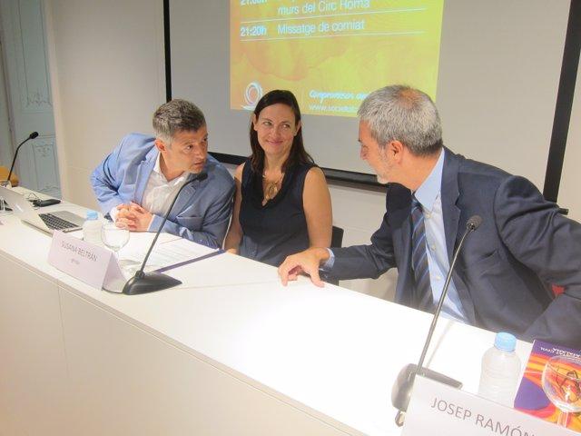 Joaquim Coll, Susana Beltrán y Josep Ramón Bosch (Societat Civil Catalana)