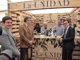 """Gallardo pone a Monterrubio de la Serena como ejemplo de """"economía verde"""" en la inauguración de Agroliva"""