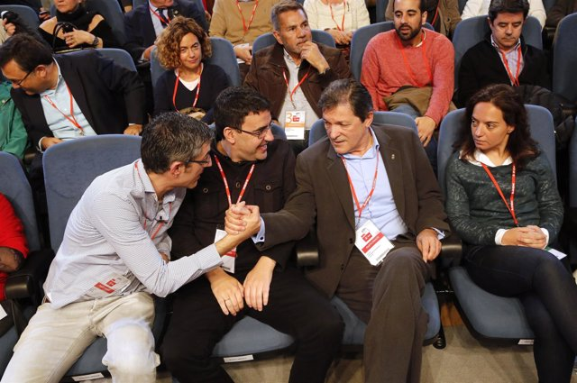 Mario Jiménez, Javier Fernández, Eduardo Madina y Sara Hernández