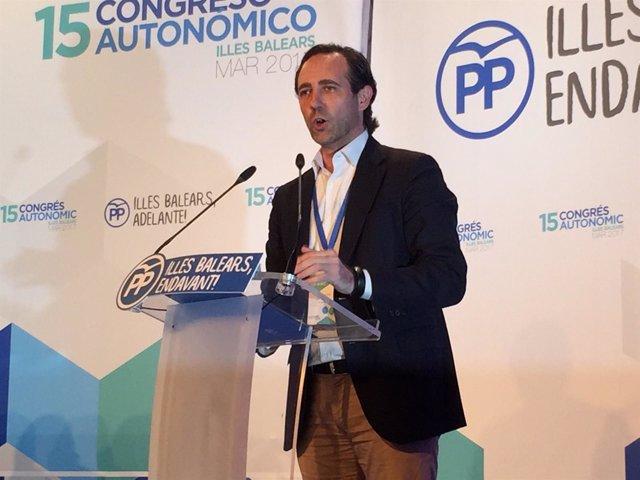 José Ramón Bauzá interviene en el XV Congreso autonómico del PP