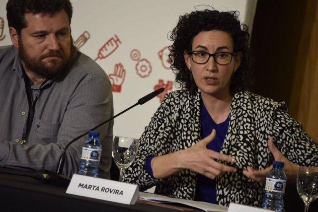 Marc Sanglas y Marta Rovira (ERC)