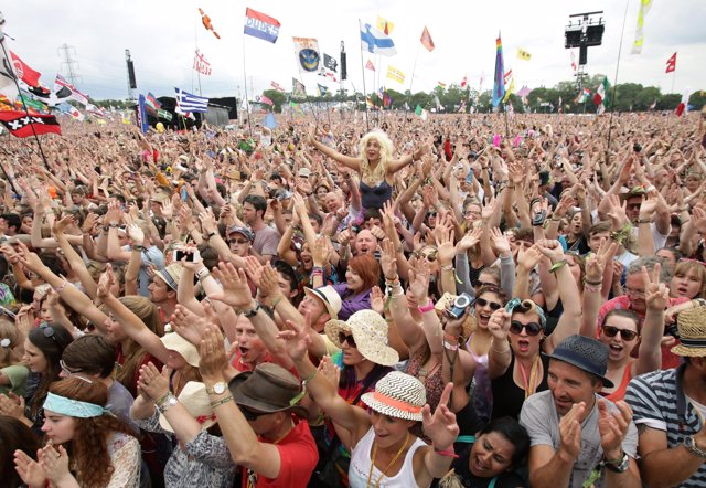 File photo dated 29/06/14 of the crowd by the Pyramid Stage at the Glastonbury F