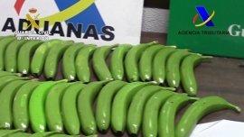 Hallan 17 kilos de cocaína escondidos en bananas falsas en València y Málaga