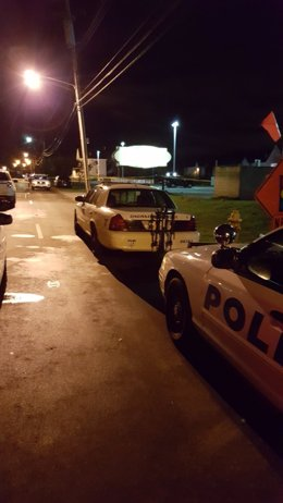 Coches de Policía tras un tiroteo en Cincinnati